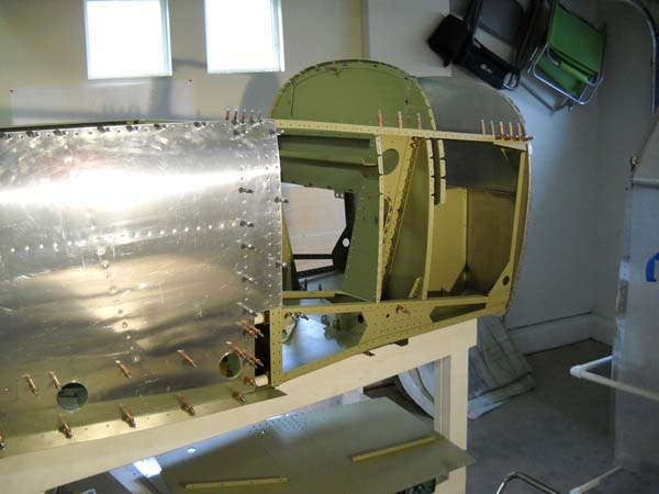 Working on the Fuselage Sub Assemblies